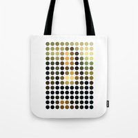 mona lisa Tote Bags featuring Mona Lisa by Gary Andrew Clarke