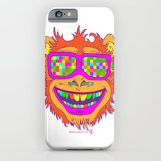 A funny monkey face colored glasses. Slim Case iPhone 6s