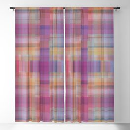 P020 Gentle Rainbow Plaid Blackout Curtain