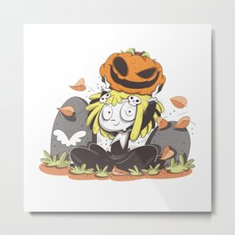 Lenore, the Cute Little Dead Girl Metal Print