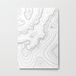 Mountains Topographic map Metal Print