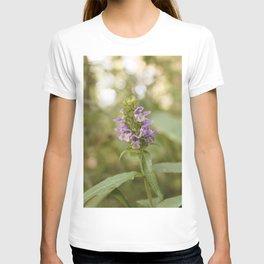 Purple Flowers in Sunrise (Vintage) T-shirt
