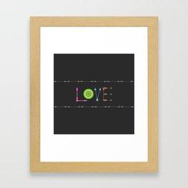 Arrow Love Framed Art Print