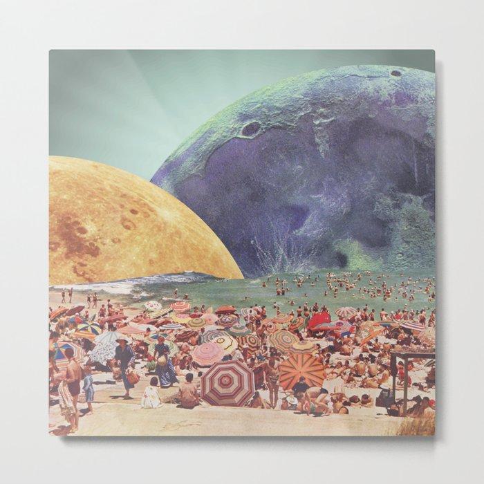 Lunar Beach Metal Print