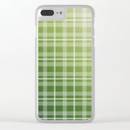 Olive Green Stripes Clear iPhone Case