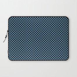 Niagara and Black Polka Dots Laptop Sleeve