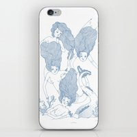 mermaids iPhone & iPod Skins featuring Mermaids by Veils and Mirrors