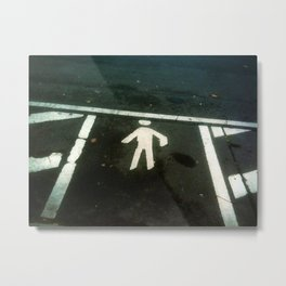 Parked Man Metal Print