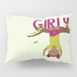 Positively girly - black tree girl Pillow Sham
