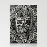 3d Stationery Cards featuring Lace Skull by Ali GULEC