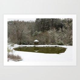 Snow at the Pond Art Print