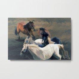 Breaking Away   -  Wild Horses Metal Print