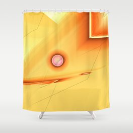 Geometric abstract orange no. 1 Shower Curtain
