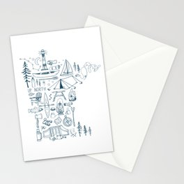Minnesota Up North Collage Stationery Cards