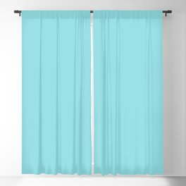 Bright Pastel Baby Blue Solid Color Pairs HGTV 2021 Color Of The Year Accent Shade Breezy Aqua Blackout Curtain
