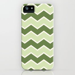 Abstract Art 20 08 Graphic fine art zigzag overlay mixed green random Geometry pattern iPhone Case