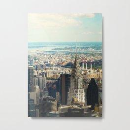 Vintage Colors. Chrysler Building, New York. Metal Print