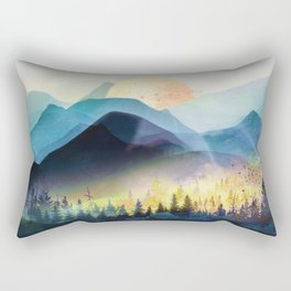 Mountain Lake Under Sunrise Rectangular Pillow