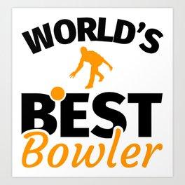 Bowling Bowler Gifts Art Print