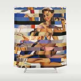 Glitch Pin-Up Redux: Sophia Shower Curtain