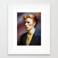 bowie Framed Art Prints featuring Bowie by Cristina Sandia