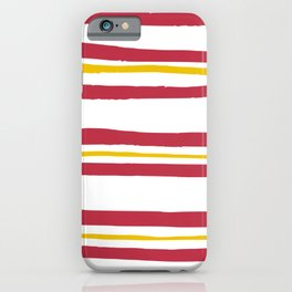 Red and Yellow Stripes iPhone Case