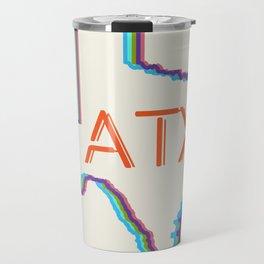 ATX Austin, Texas Retro Neon Lights Travel Mug