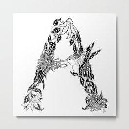 """""""A"""" Metal Print"""