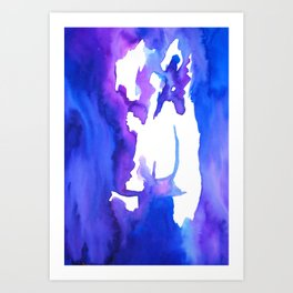 Blurry back Art Print