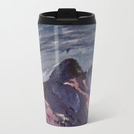 mountains sunset  Metal Travel Mug