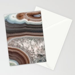 Dragon mouth agate geode Stationery Cards