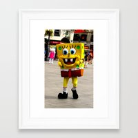 spongebob Framed Art Prints featuring Spongebob by Savannah Frances