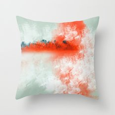 Frosted to Red Throw Pillow