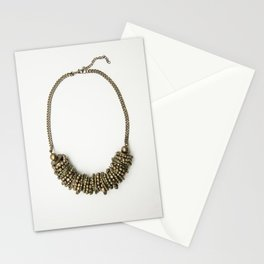Mongolian gold necklace Stationery Cards