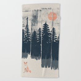 A Fox in the Wild... Beach Towel