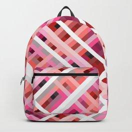 Rarog - Symmetric Pink Line Art Grid Backpack