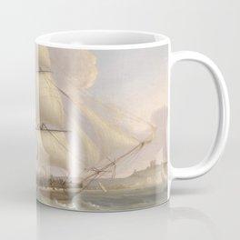Vintage Fleet of Sailboats Painting (1845) Coffee Mug