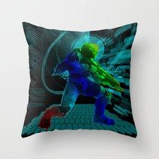 Halo Splash Art Throw Pillow