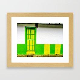 Doors - Green and Yellow Framed Art Print