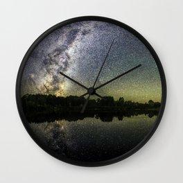 Henry Lake New Zealand Under Southern Hemisphere Skies By Olena Art Wall Clock