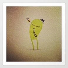 Gerald & the bee Art Print