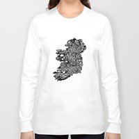 ruben ireland Long Sleeve T-shirts featuring Typographic Ireland by CAPow!