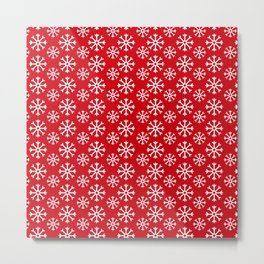 Winter Wonderland Snowflake Christmas Pattern Metal Print