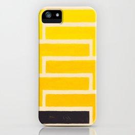 Black & Yellow Geometric Pattern iPhone Case