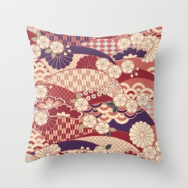 Chiyogami Throw Pillow