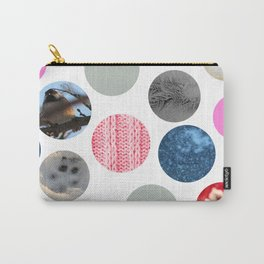 Winter Poka Dot Collage Carry-All Pouch