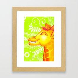 Jammin Giraffe Framed Art Print