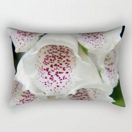 White Foxgloves - Garden Photography Rectangular Pillow