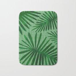 Emerald Retro Nature Print Bath Mat