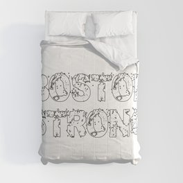 Support BOSTON STRONG White Grunge Comforters